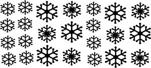 Snowflakes Winter Christmas Stickers Vinyl Decals Words