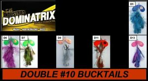 11quot; Double #10 Bucktail Muskie Musky Lure Northern Pike Bait Bass Esox Canada