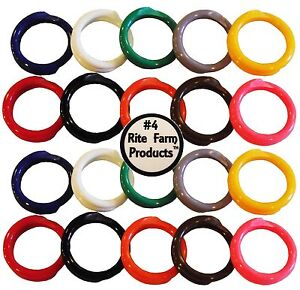 20 MULTI COLORED #4 LEG BANDS 1 4quot; CHICKEN POULTRY CHICK QUAIL PIGEON DUCK GOOSE