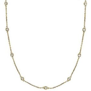 CZ by the Yard Inch 18K Yellow Gold Vermeil Long Chain Necklace 24