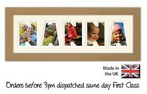 Nanna Word Photo Frame by Photos in a Word Gift for Nanna