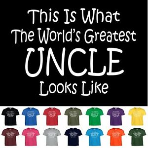 Worlds Greatest UNCLE T Shirt Fathers Day Gift Tee T Shirt