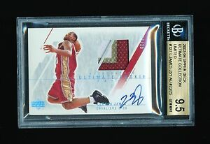 BGS 9.5 LEBRON JAMES 2003 ULTIMATE COLLECTION LIMITED AUTO PATCH JERSEY # 2325