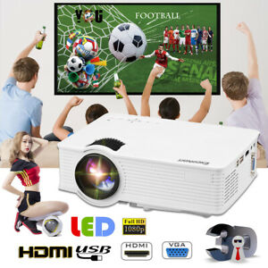 Excelvan GP9 Mini LED Projector Home Cinema Theater 800x480 1200 Lumens HDMI New