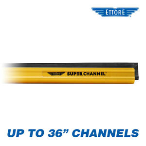 Ettore Aluminum Super Channel for Window Cleaning & Washing Squeegee - ANY SIZE!