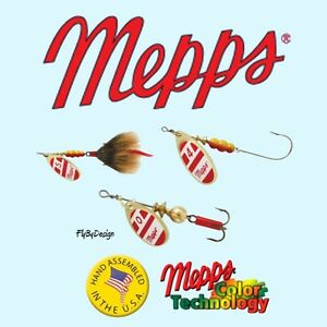 NEW Mepps Aglia Red White Blade Choice of Hook Blade Size Weight amp; Quantity