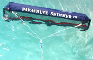 In-Ground & Above Ground Swimming Pool Parachute New Skimmer/Surfacer