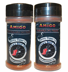 Habanero Chili Pepper Powder Hot Dried Spice Extra Spicy Gift Set 2 x 1.5 oz