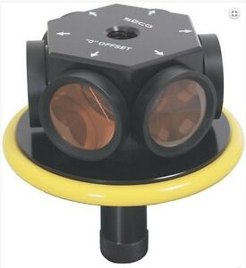 SECO - 360° Robotic 77 mm Prism Assembly - Yellow for use with (Topcon)