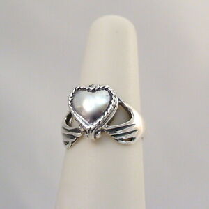 Claddagh Heart Poison Ring 925 Sterling Silver Victorian Locket Pillbox Ring $18.00