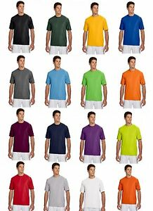 Men's A4 NEW Dri-Fit Workout Running Cooling Performance T-Shirt S-4XL N3142
