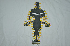 T-SHIRT GOLDS GYM FITNESS HEALTH CLUB WEIGHT LIFTING WEIGHT LOSS WORKOUT