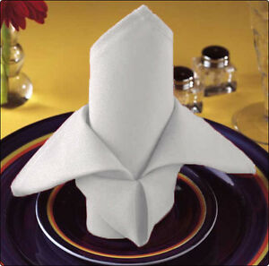 100 restaurant dinner catering cloth 100% cotton event napkins premium 20''
