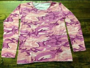 LOT of 33 NEW Fashion Playtes Long Sleeved PINK Camouflage shirts girls size 14
