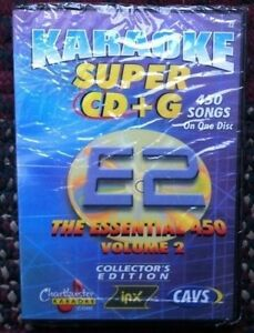 CHARTBUSTER ESSENTIALS KARAOKE SCDG E2, 450 SONGS, CAVS SUPER CD+G