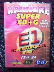 CHARTBUSTER ESSENTIALS KARAOKE SCDG E1, 450 SONGS, CAVS SUPER CD+G