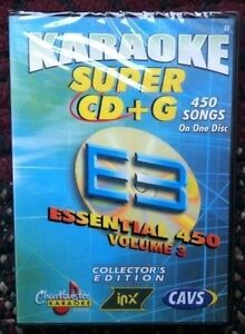 CHARTBUSTER ESSENTIALS KARAOKE SCDG E3, 450 SONGS, CAVS SUPER CD+G
