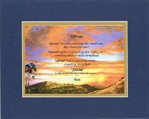 Personalized Heartfelt Poem - Special Is The Word Best Describes You . . . Poem