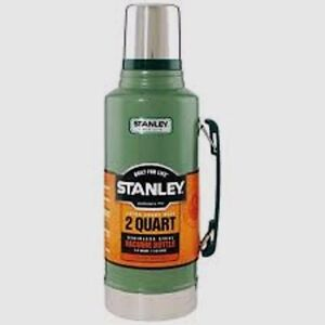 STANLEY Insulated 1/2 Gallon 2 Qt. Stainless Bottle Canteen Thermos 10-01289-001