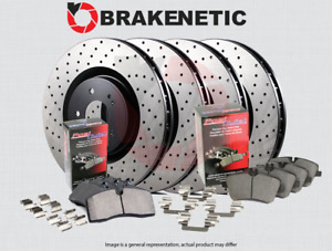 [F&R] BRAKENETIC PREMIUM DRILLED Brake Rotors + POSI QUIET Ceramic Pads BPK74251