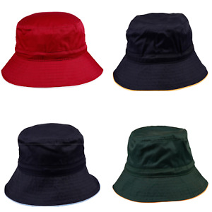 NEW MENS WOMENS UNISEX BUCKET HAT WITH TOGGLE CASUAL SUMMER SPORTS HAT SUN 50+