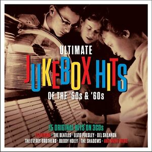 Ultimate Jukebox Hits Of The 50s amp; 60s BEST OF 75 SONGS Essential Music NEW 3 CD $8.99