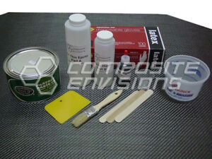 Build Your Own Carbon Fiber Part Wrapping Kit w Clear Epoxy Small Kit $71.75