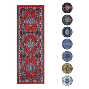 Traditional Oriental Medallion Rug 2x7 Persien Style Runner -Actual 1'10