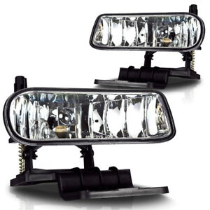 Fog Lights for 99 02 Chevy Silverado 00 06 Suburban Tahoe Clear Pair Set