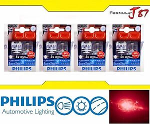 Philips X-Treme Vision LED 1156 S25 BA15s Rouge Red 4.3W Eight Bulbs Replacement