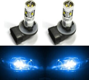 LED 30W 881 H27 White 5000K Two Bulbs Fog Light Replacement Upgrade Lamp OE