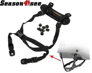 Tactical Retention System H-Nape Strap Kit for MICH Helmet Airsoft Hunting Black