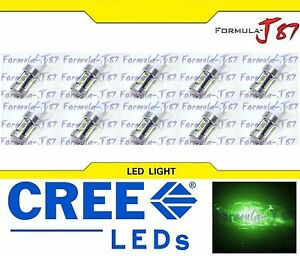 CREE LED Miniature 80W 7440 T20 Green Ten Bulbs Replacement Light Lamp Upgrade
