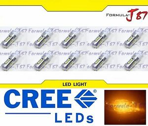 CREE LED Miniature 80W 7443 T20 Amber Orange Ten Bulbs Replacement Light JDM