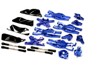 T8695BLUE Billet Machined Suspension Kit for HPI 110 Bullet MT
