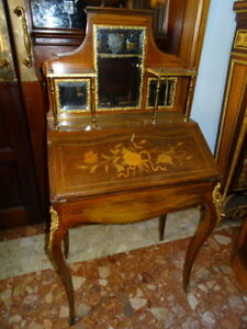 Antique French XVI Louis Bonheur Du Jour Ladies Desk Museum Quality