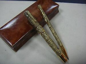 〝MUSEUM MASTERPIECE〞Continental design overlay Waterman N°52 pen and pencil SET