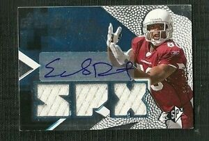 EARLY DOUCETT 08 UD SPX TRIPLE JERSEY AUTO ROOKIE 320 599 ARIZONA CARDINALS WR