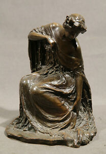Bessie Potter Vonnoh  French Bronze (AMERICAN 1872-1955) Woman Seated in Dress