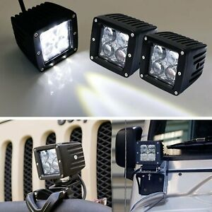 4D Projector Lens 20W CREE LED Cubic Pod Fog Lights For Truck Jeep ATV 4WD 4x4c $34.19