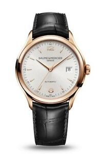 NEW BAUME AND MERCIER CLIFTON 10058 MOA10058 M0A10058 18KT RED GOLD 39MM
