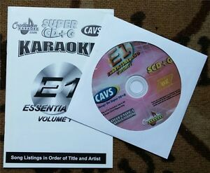 CHARTBUSTER SUPER CD+G ESSENTIALS KARAOKE SCDG E1,450 SONGS, CAVS COUNTRY,ROCK