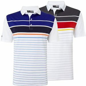 Callaway Golf 2016 Performance Engineered Printed Stripe Mens Golf Polo Shirt
