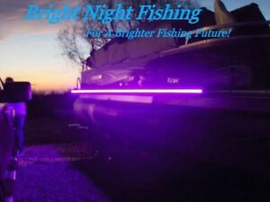 LED Black Light Night Fishing LED Strip UV Ultraviolet boat bass fishing 12v