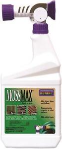 NEW BONIDE 728 QUART READY TO SPRAY COCENTRATED MOSSMAX MOSS KILLER 5961172