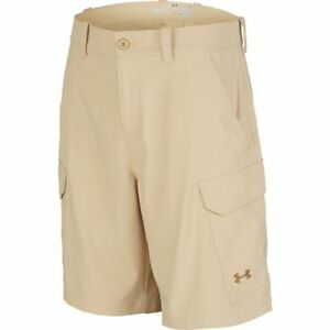 Under Armour Fish Hunter Cargo Shorts 1244207-232 Tan Khaki