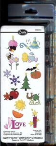Sizzix Sizzlits SEASONAL SET #2 12 MEDIUM Dies! 656652