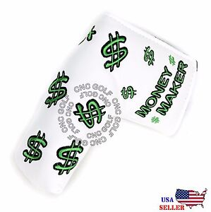 Money Maker Putter Cover Magnetic For Scotty Cameron Taylormade Odyssey Blade $19.99
