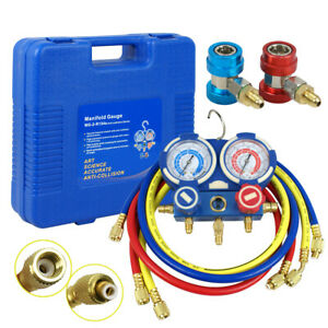 HVAC AC Air Refrigeration Kit AC Manifold Gauge Set Brass R134A R410A R22 $45.79