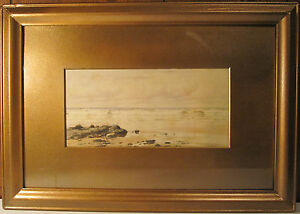 ANTIQUE SIGNED IMPRESSIONIST WATERCOLOR SIGNED PAINTING quot;ATquot; BRICHER? NH UK ? $839.99
